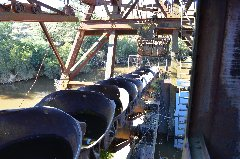Buckets on the Eldorado Dredge